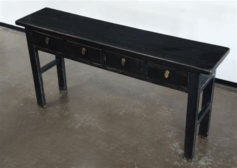 black console sofa entry table with drawers altar