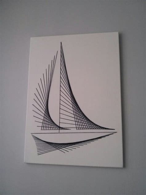String Boat - 131 best cards with string embroidery or sewing