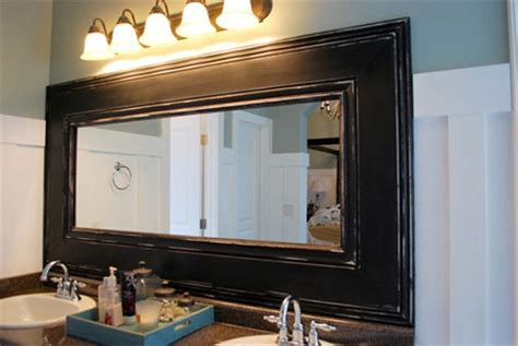 how to frame existing bathroom mirror home dzine bathrooms frame a bathroom mirror