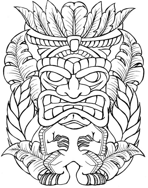 tiki tattoo designs free coloring pages of tiki mask