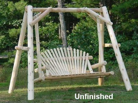 Backyard Creations Cedar Log Swing 40 Best Images About Swings On Outdoor Swings