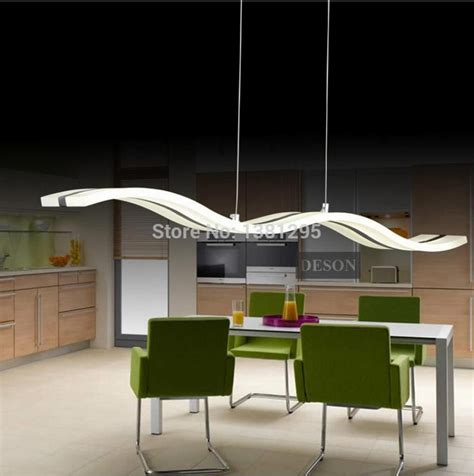 led pendant lights modern kitchen acrylic suspension