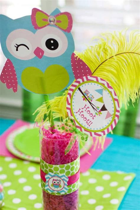 owl theme decorations kara s ideas look whoo s one owl planning
