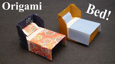 How To Make Origami Bed - how to make a doll house bed with bedding origami paper