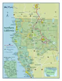 southern oregon northern california map by shasta