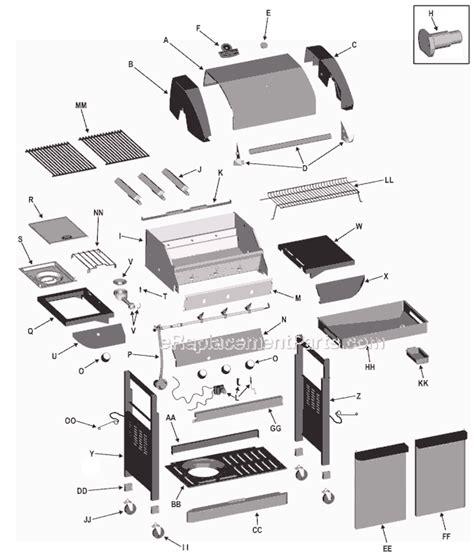 char broil parts diagram char broil 463251505 parts list and diagram