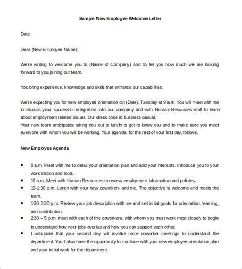 23 hr welcome letter template free sle exle