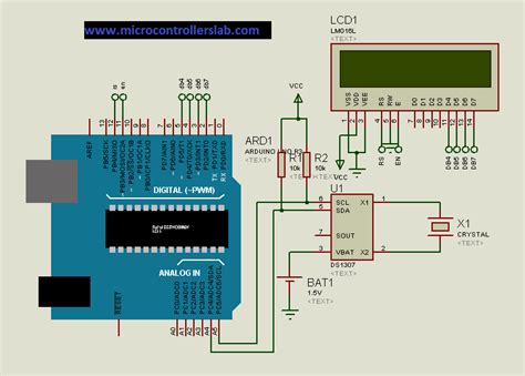 ds1307 circuit diagram real time clock ds1307 interfacing with arduino