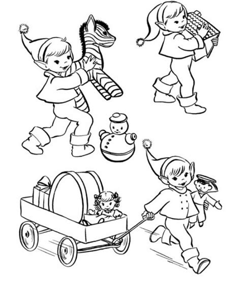 elves workshop coloring pages christmas elf coloring pages printable christmas