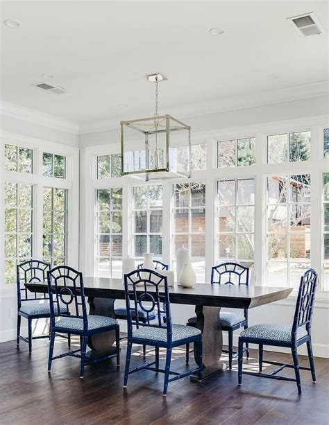navy blue dining room table 1000 ideas about blue dining tables on blue