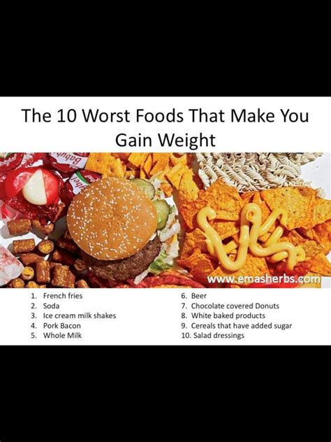 The 7 Worst Diets by 10 Worst Foods That Make You Gain Weight Health