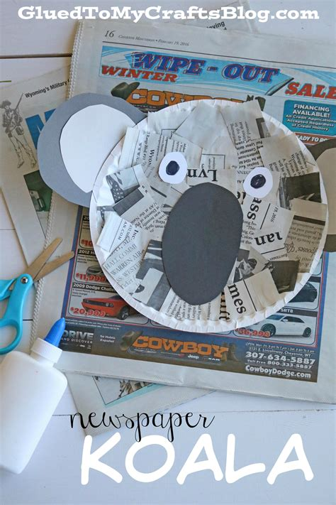 newspaper theme preschool newspaper koala kid craft glued to my crafts