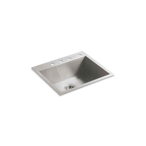 kohler stainless steel drop in sink kohler vault drop in undermount stainless steel 25 in 4
