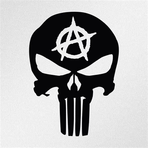 Auto Sticker Vorlagen by Punisher Skull Anarchy Symbol Car Body Window Bumper Vinyl