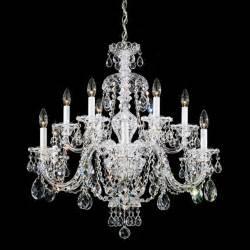 Schonbek sterling collection 12 light crystal chandelier traditional