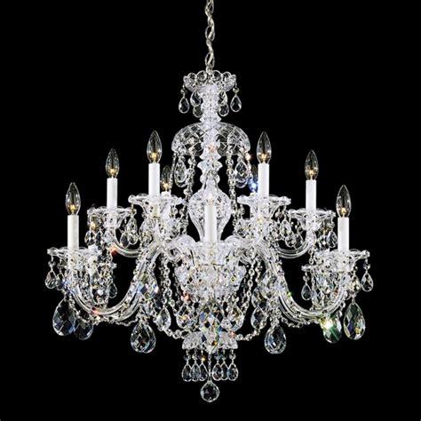 Schonbek Sterling Collection 12 Light Crystal Chandelier 12 Light Chandeliers