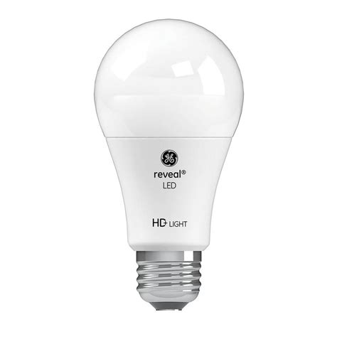 Ge Reveal Led Light Bulbs Ge 60w Equivalent Reveal 2 850k High Definition A19 Dimmable Led 2 Pack Led11dav3rvl Ht2