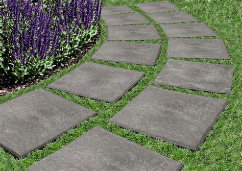 Patio Pavers Recycled Rubber Stomp Stones Rubber 12 X 12 Stepping Stones That You Quot Stomp Quot Into Place Grass Genius 4
