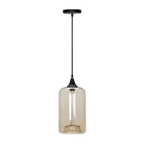 globe electric 1 light matte globe electric 1 light matte black and cylinder glass pendant 65612 the home depot