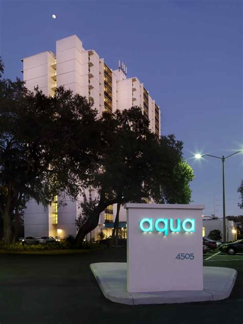 aqua apartments tampa senior community