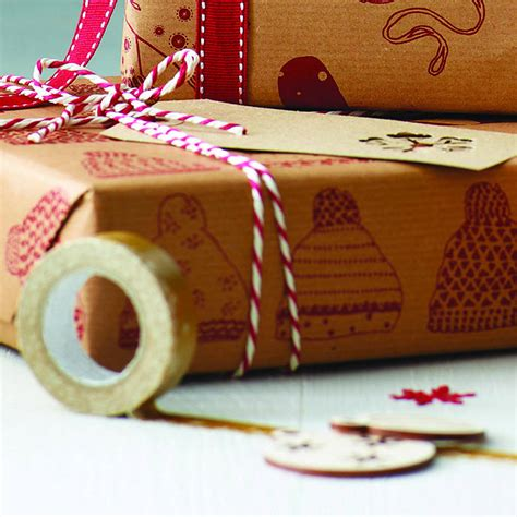 recycled keep cosy this christmas gift wrap set by