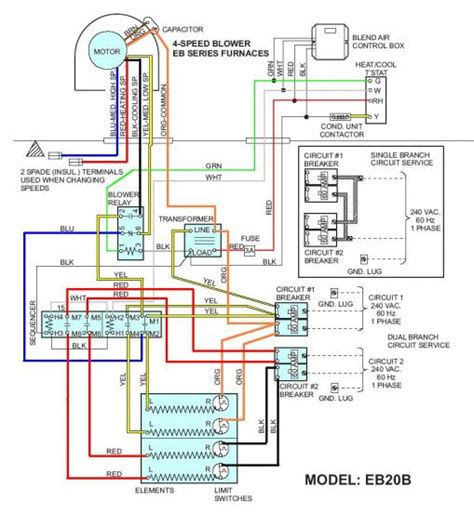 wiring diagram for coleman eb20b coleman furnace wiring