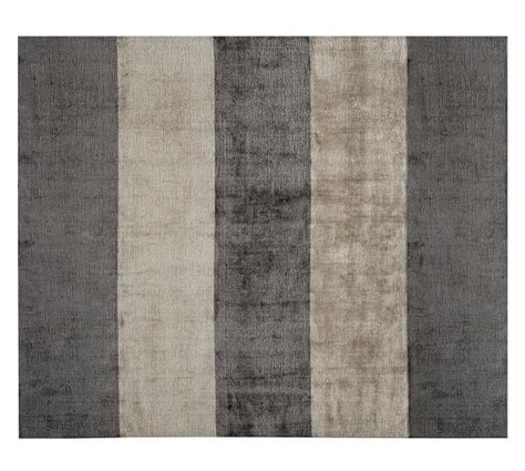 Awning Stripe Hand Loomed Rug Charcoal Gray Pottery Barn Pottery Barn Striped Rug