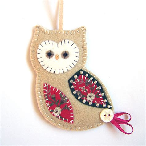 Handmade Owl Decorations - ideas on owl felt owls and felt