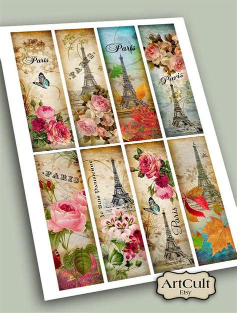 printable paris bookmarks printable download paris bookmarks digital collage sheet