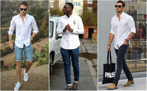 Tshirt Look In Levis Hitam how to wear a white oxford shirt the idle