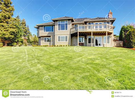 siding with mr house beautiful siding house view from backyard stock photo image 38786774