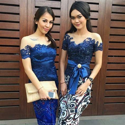 Bustier Kebaya Atasan Baju Wanita Biru Elektrik 21 model kebaya untuk wisuda modern yang bagus cantik simpel 2018