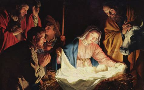blessing of christmas manger or nativity scene