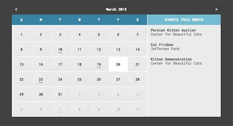 Single page site jquery date