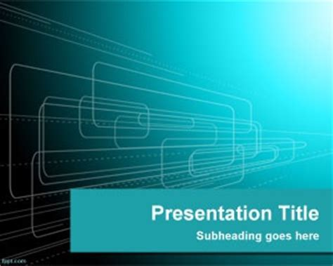 shapes technology powerpoint template    powerpoint