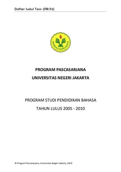 format penulisan skripsi universitas negeri malang daftar judul tesis pb s2