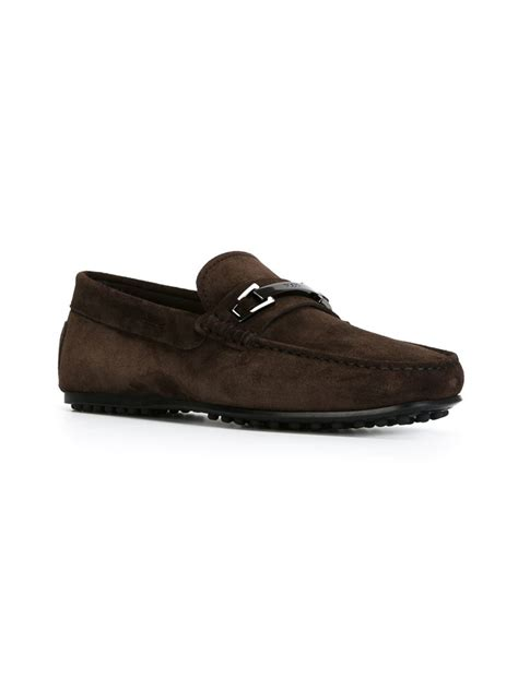 mens loafers with buckle lyst tod s equestrian buckle loafers in brown for