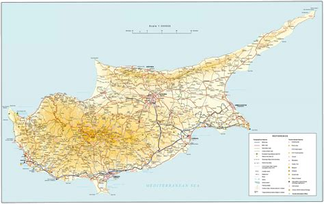 big detailed road map of cyprus cyprus big detailed road