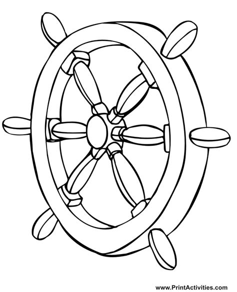 free ships wheel coloring pages
