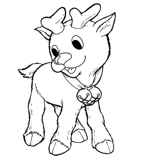 coloring pages deer rudolph baby reindeer holiday digis pinterest coloring