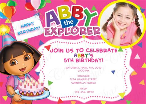 Birthday Invitation Card For
