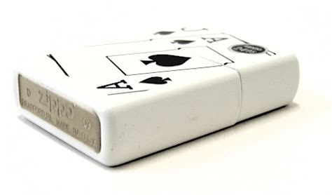 Zippo Original Ace Of Spade White Matte 9131 zippo ace and spades white matte lighter 24696