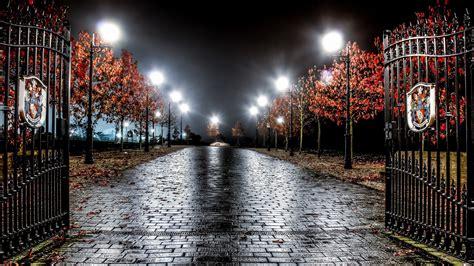 england night light gate city photography HD Wallpaper