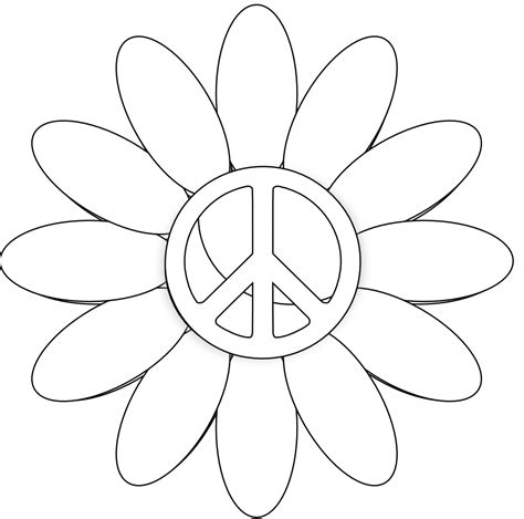 Peace Sign Printable Cliparts Co Printable Peace Sign Coloring Pages