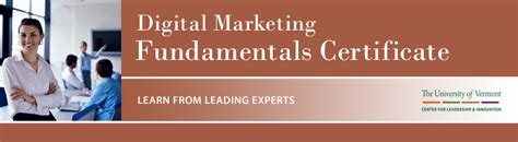 Uvm Mba Program Cost by Digital Marketing Fundamentals Certificate Uvm