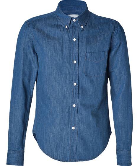 Denim Blouse band of outsiders blue denim shirt my fashion wants