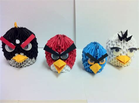Origami Angry Birds - angry birds album shawn 3d origami