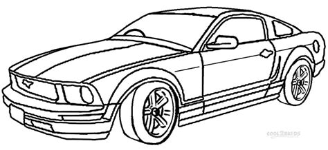 coloring pictures mustang cars 5 best images of mustang car coloring pages printable