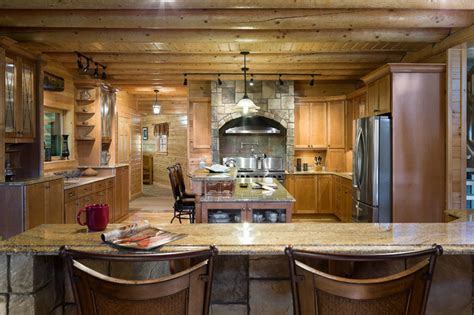 Kitchen Cabinets For Sale Maine Custom Northern Maine Log Home Estate Rustic Kitchen