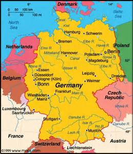 Germany On The Map by Germany Information And Fun Facts